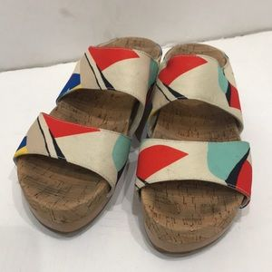 ALICE + OLIVIA  MULTICOLOR SANDALS Size 39